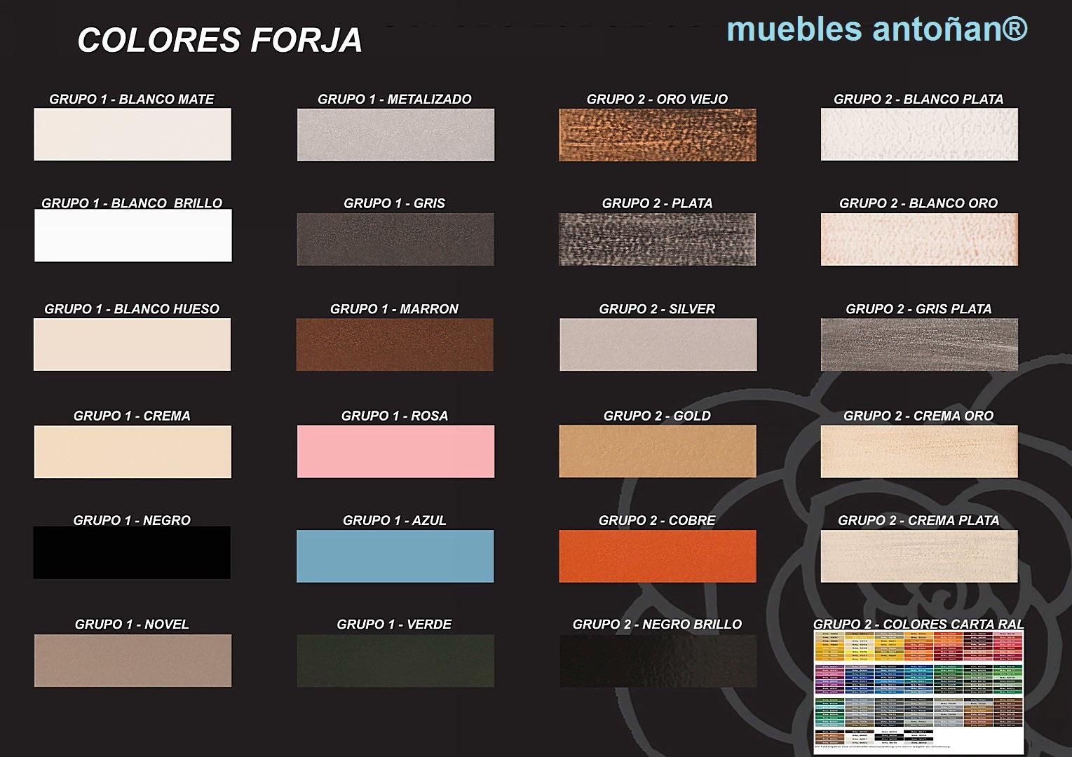 ACABADOS metal de Forja Cruz Cuenca en muebles antoñán® León