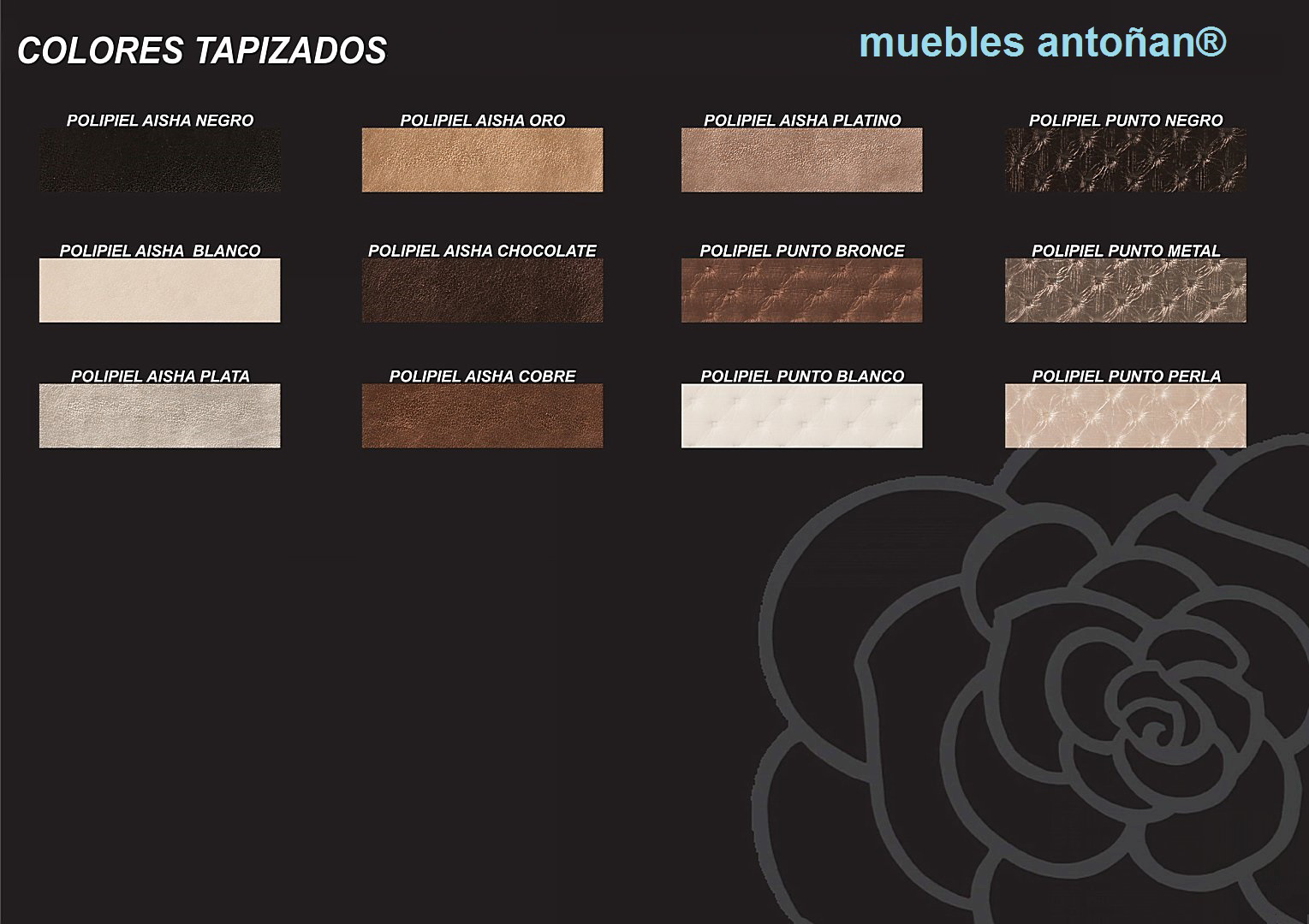 ACABADOS tapizados de Forja Cruz Cuenca en muebles antoñán® León