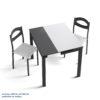 Catálogo Mesas y sillas cocina by Mesinor MESA COCINA LIBRO EXTENSIBLE TRANSVERSAL 1.5 MARCIA CRISTAL ANTIRAYAS de venta en Muebles ANTOÑÁN León