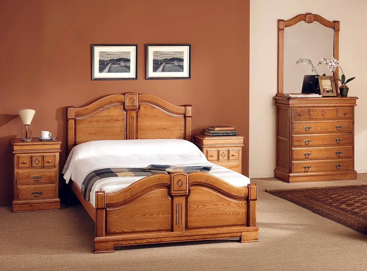 Dormitorios en MADERA MACIZA de castaño Serie Oro by MRC 01.2 en MUEBLES ANTOÑÁN León