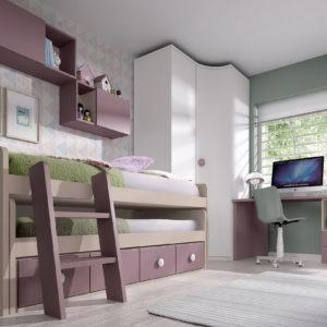 Cama COMPACTO doble FORMAS19 by Glicerio Chaves en muebles antoñán®