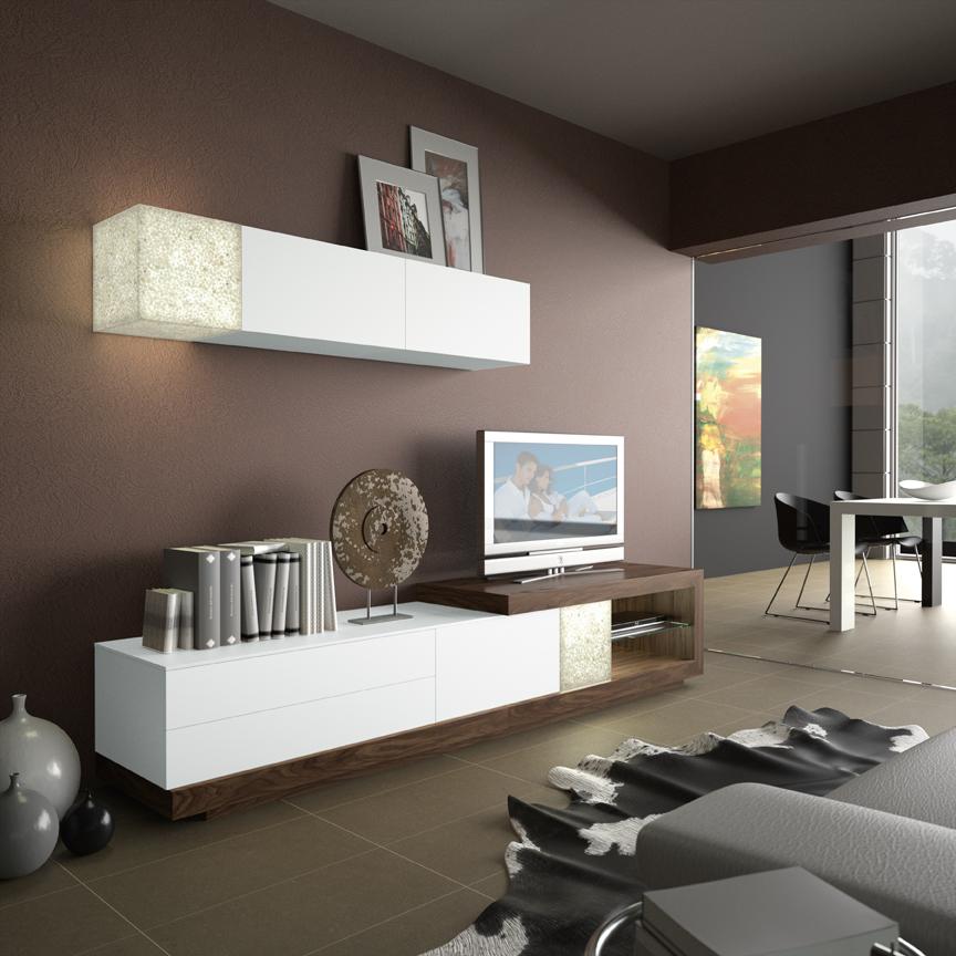 Mueble sal n moderno ortus sal n by zafra en muebles - Muebles en leon ...