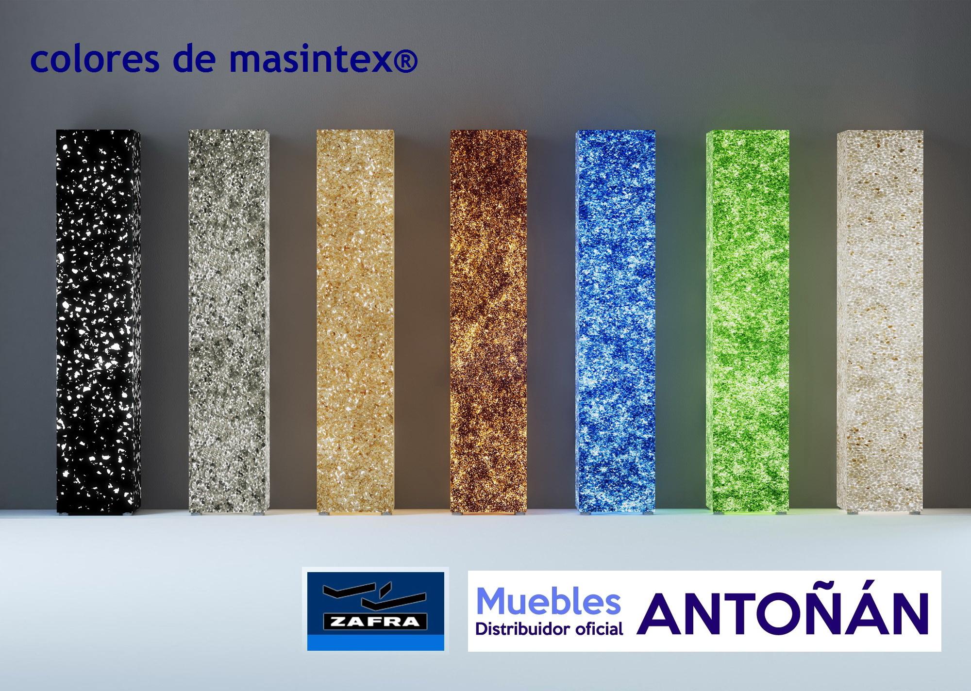 Colores masintex® Muebles Zafra distribuido por muebles antoñán®