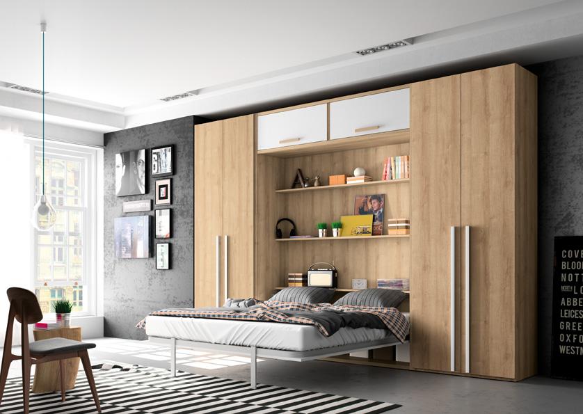 Cama Abatible Vertical grande en Muebles ANTOÑÁN León__programa AQUA_by_AZOR_A64 detalle apertura