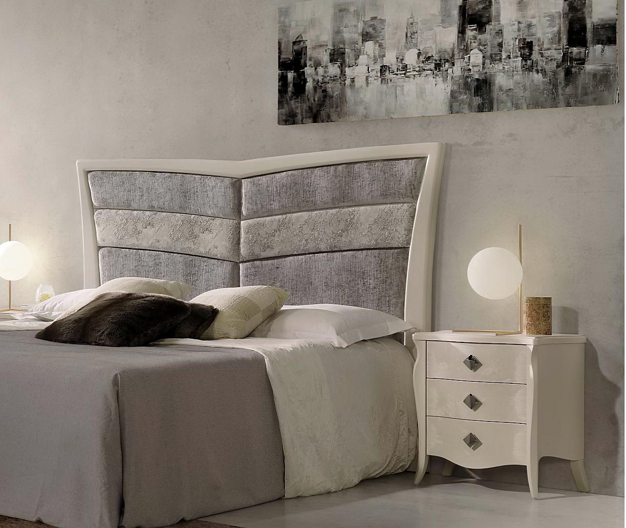 Dormitorio contemporáneo FRIDA cabecero tapizado y retroiluminado by Artecesar en Muebles ANTOÑÁN León (2)