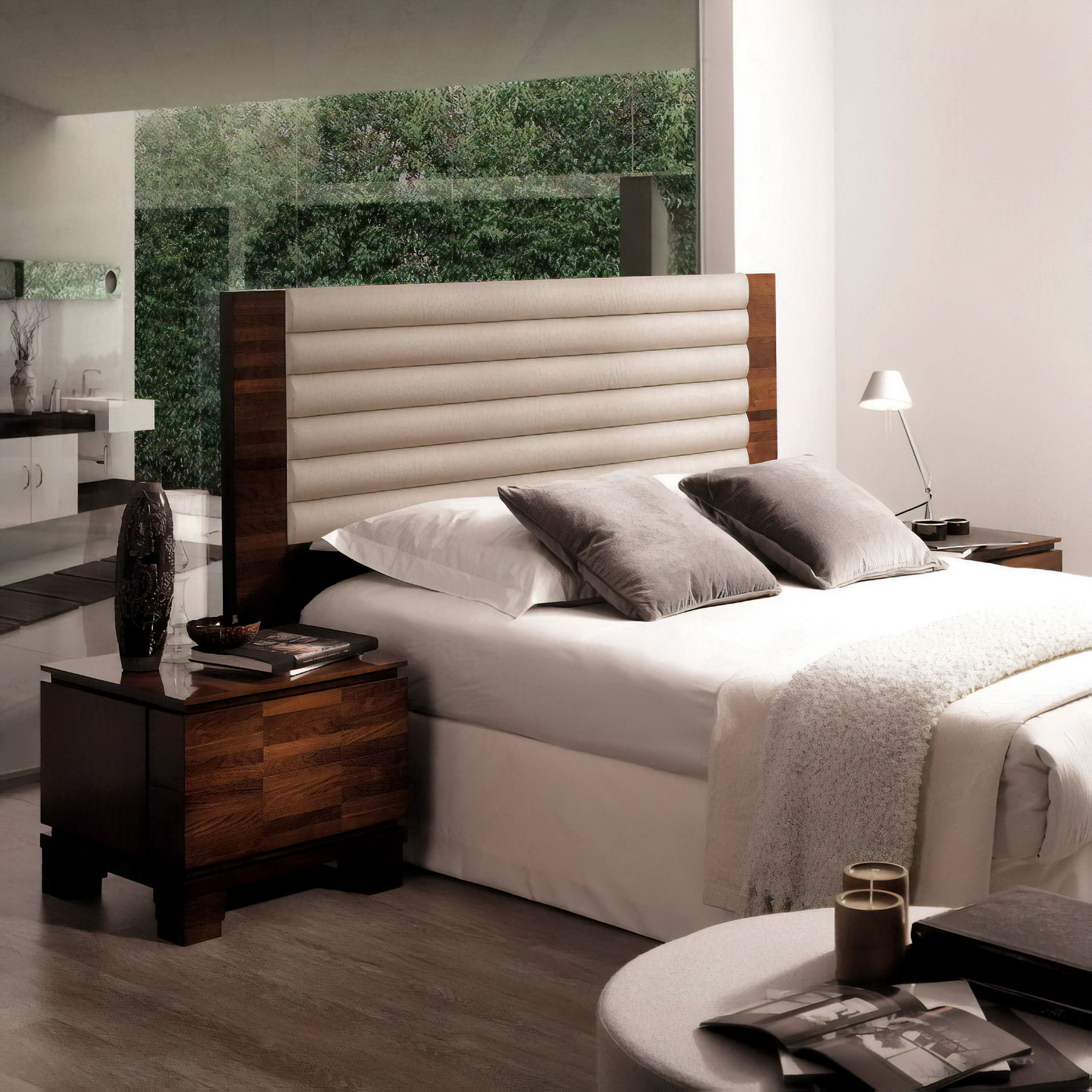 Moderno muebles de camas tapizadas molde muebles para for Muebles hurtado