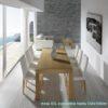 Mesa comedor moderna extensible by ALMOSA-248 ABIERTA en muebles antoñán® León