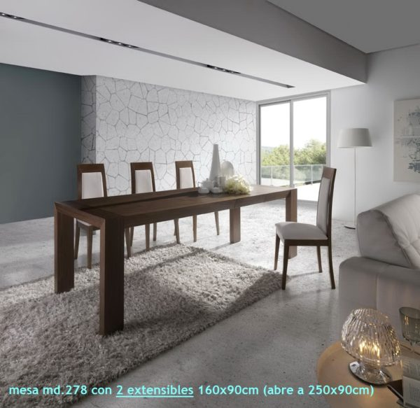 Mesa comedor moderna extensible by ALMOSA-278 ABIERTA en muebles antoñán® León