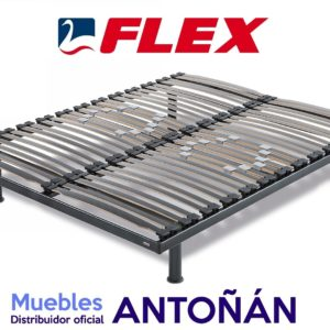 SOMIER LAMIMAS MADERA flex_bases f6 150x190 pata gris en muebles antoñán® León