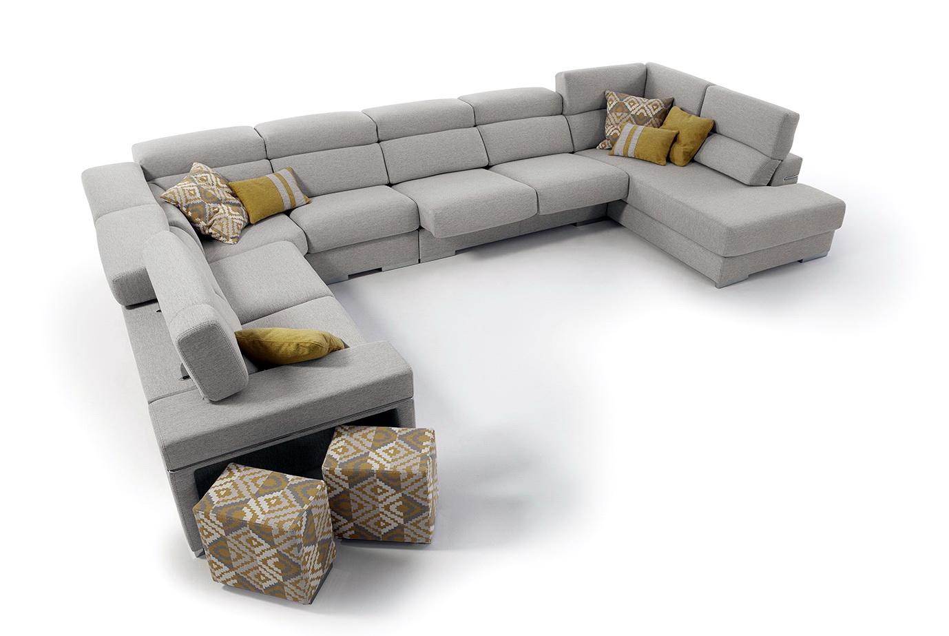 JIM CONSOLA sofás modulares by VYM Sofás - Muebles ANTOÑÁN