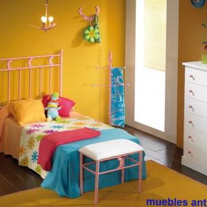 Cama infantil en forja cama metal 38 by Forja Cruz Cuenca en muebles antoñán® León