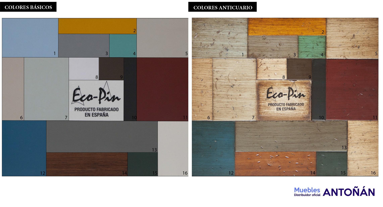 Colores VINTAGE salones y auxiliar by Ecopin en muebles antoñán® León