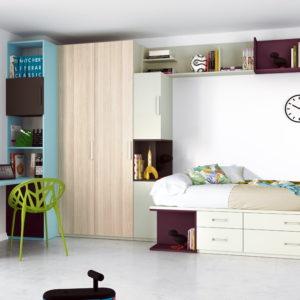 Dormitorios Infantiles y Juveniles AURA c02 by Josico en muebles antoñán® León