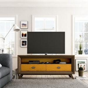 MESA TV moderna en madera maciza md. VINTAGE AUXILIAR VIN TV150C by Ecopin en muebles antoñán® León
