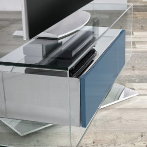 Mesa TV moderna cristal A-FOX02.2 by Nacher® en muebles antoñán® León