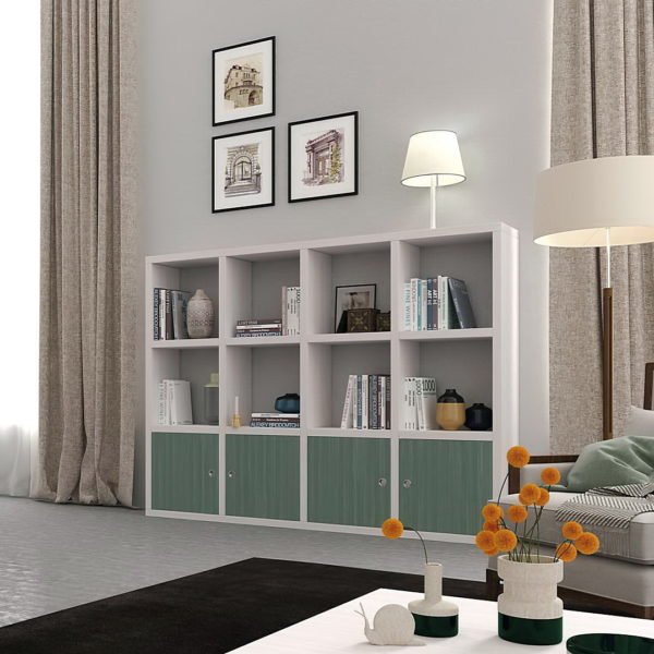 Libreros modernos by ecopin muebles anto n for Muebles en leon baratos