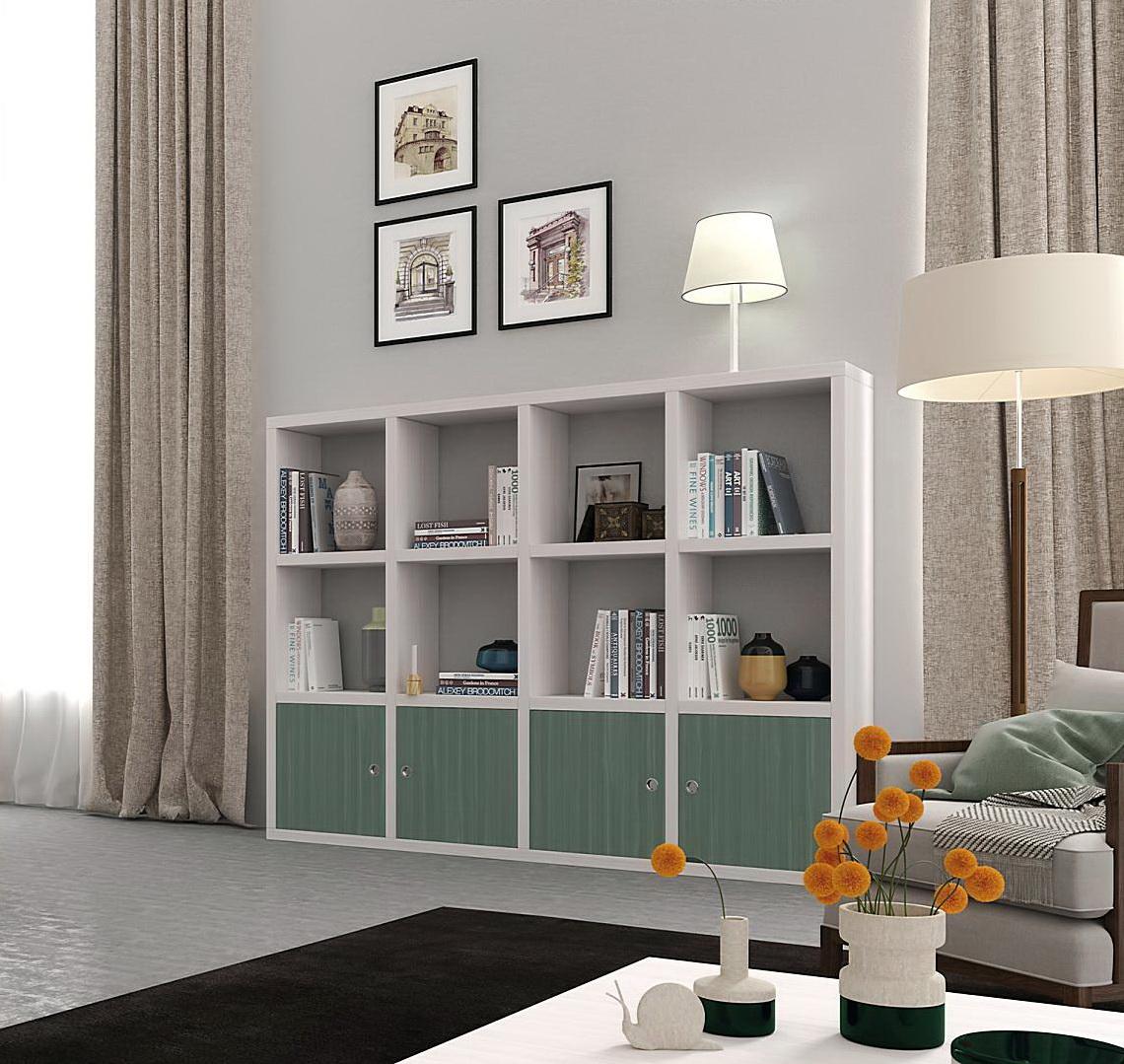 Libreros modernos by ecopin muebles anto n for Living de madera modernos
