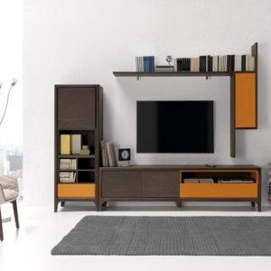 Mueble salón Estilo Nórdico OPTIMUM comp2 by NogalYecla en muebles antoñán® León