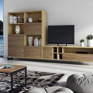 Mueble salón moderno VEGA C66 by NogalYecla en muebles antoñán® León