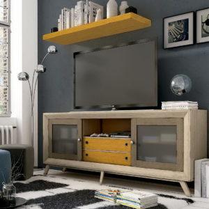 Mueble salón moderno en madera NATURA AUXILIAR VIN B220 by Ecopin en muebles antoñán® León
