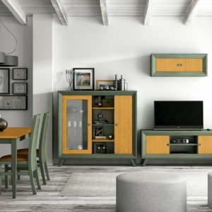 Mueble salón moderno en madera VINTAGE MODULAR 03 by Ecopin en muebles antoñán® León