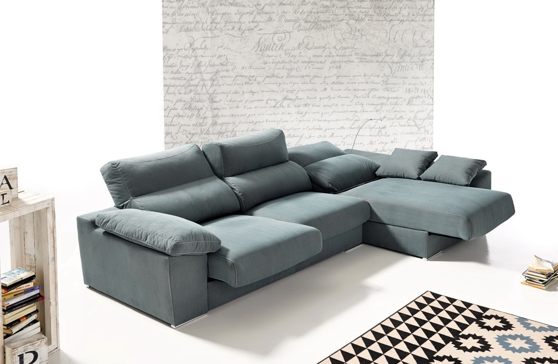 Akua sof chaise longue modular by future design confort for Sofa 1 plaza chaise longue