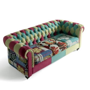 Sofá chester tapizado patchwork 01 en muebles antoñán® León