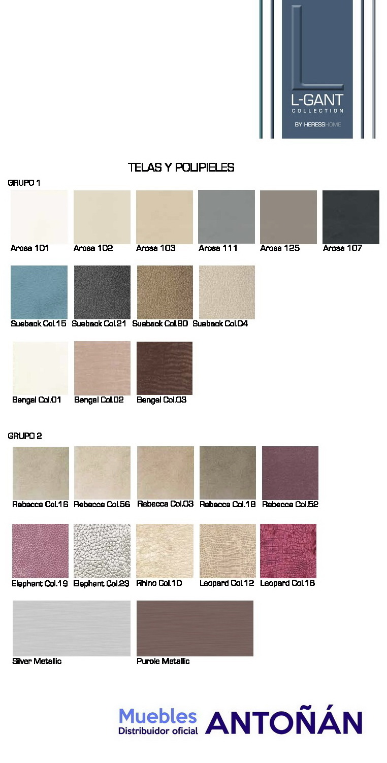 Colores 5 TAPIZADOS Muebles de Salón LGANT BY HERESS HOME en muebles antoñán® León