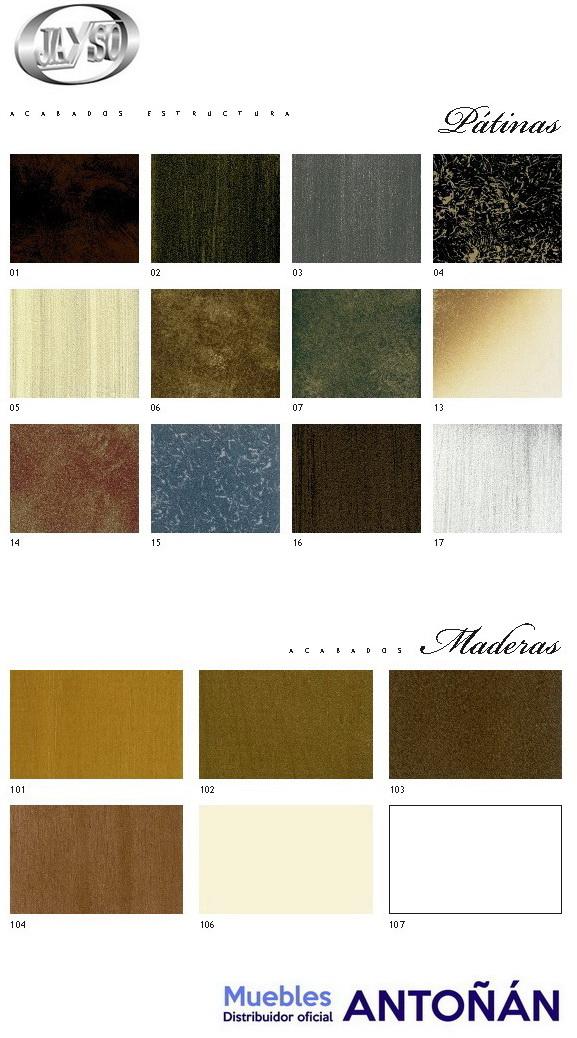 Colores Acabados para los dormitorios de Forja de la marca Jayso en muebles antoñán® León 2
