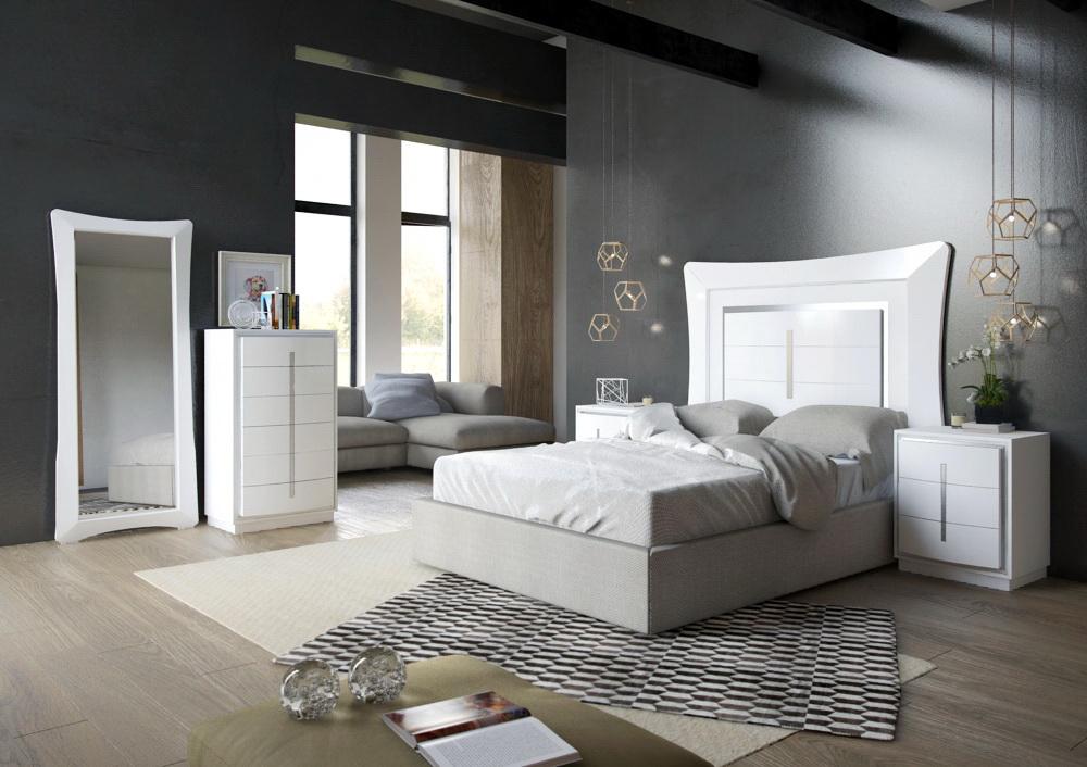 Dormitorio Contemporáneo Roma lacado 1 by Kosbian en muebles antoñán® León
