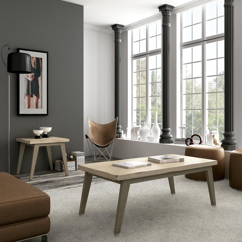 Mesas centro madera arenada by ecopin muebles anto n for Muebles en leon baratos
