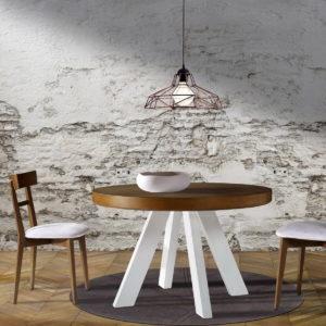 MESA REDONDA 08 en madera de pino by Ecopin en muebles antoñán® León