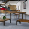Mesa comedor estilo industrial by Ecopin 01-MESA PATA ANGULO en muebles antoñán® León