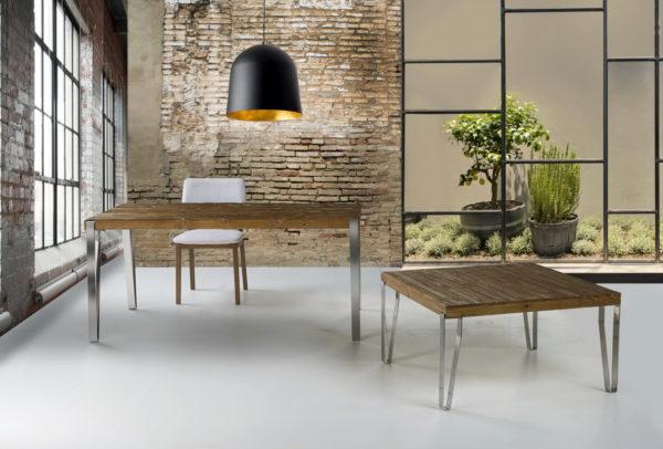 Mesa comedor estilo industrial by Ecopin 07-MESAS PATAS PLETINA en muebles antoñán® León