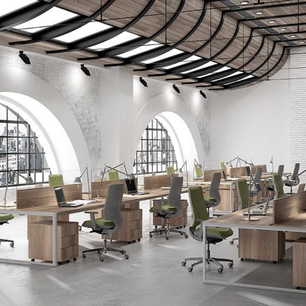 Meta oficinas modernas by ofifran muebles anto n for Mesa oficina moderna