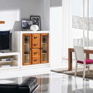 Mueble Salón Estilo Colonial en madera 10 by Ecopin en muebles antoñán® León