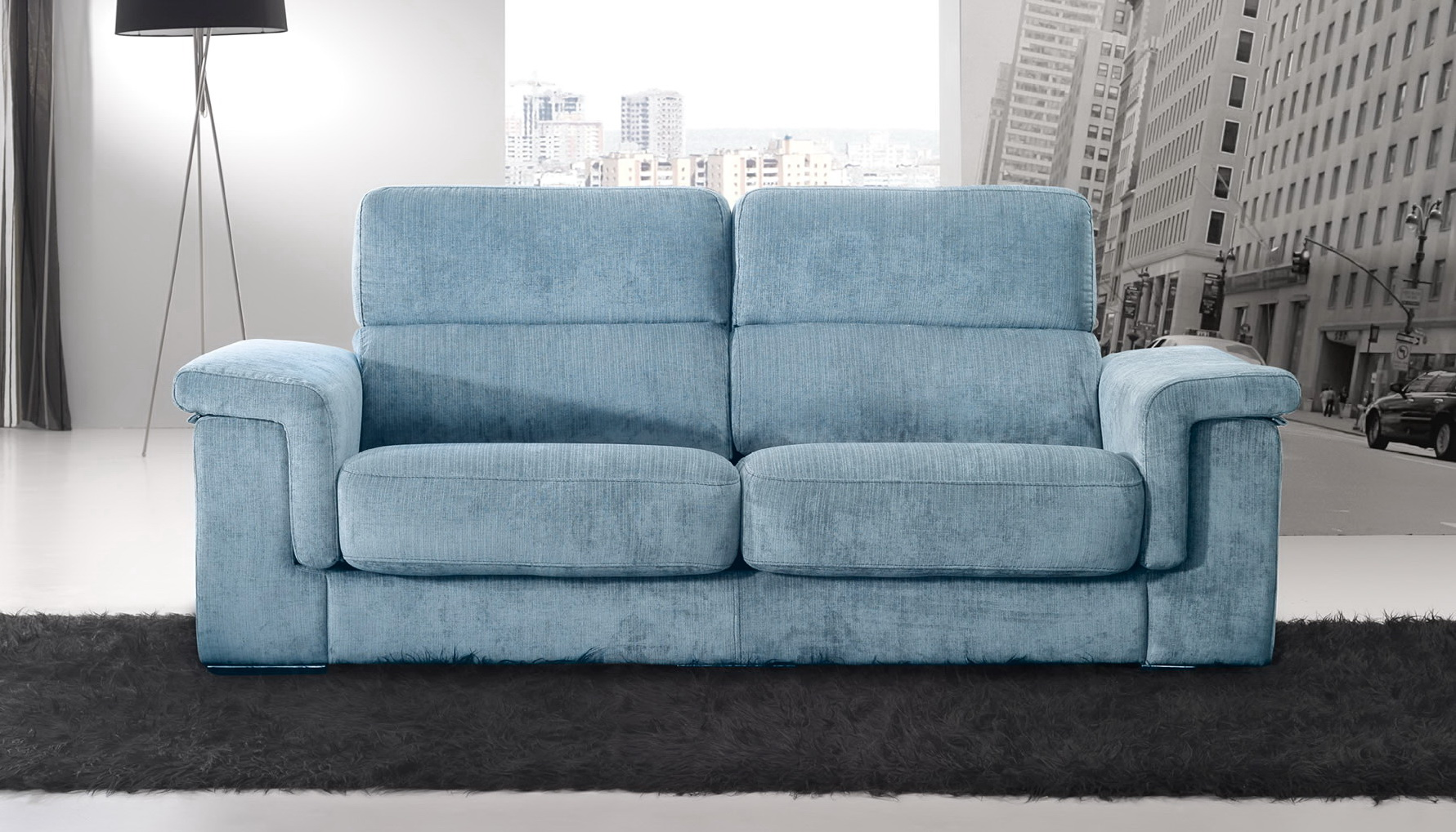 Zara sof chaise longue modular asientos extensibles by for Bautista muebles y decoracion