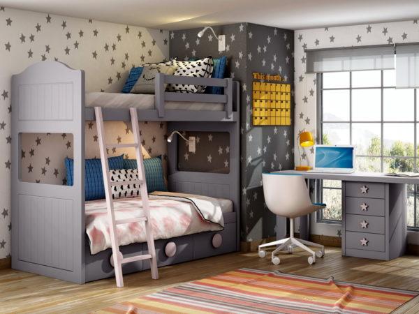 CAMA LITERA Infantil Y Juvenil P&C KIDS 2C by Piñero y Cabrero en muebles antoñán® León