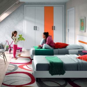CAMA dormitorio Infantil y Juvenil DYNAMIC 71 by LAR en muebles antoñán® León