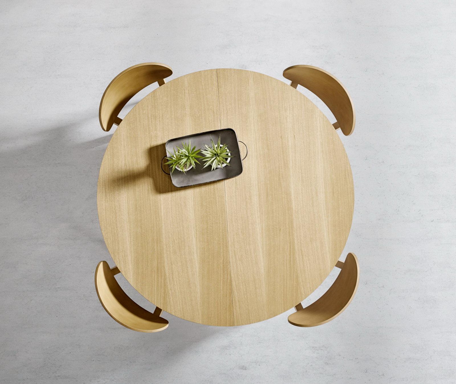 MESA COMEDOR Redonda Extensible Moderna Milo 1 by PEMI distribuida por muebles antoñán® León