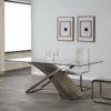 MESA COMEDOR RECANGULAR ARAMIS 200x100cm ROBLE GRIS i-5582-r5.1 by Marckeric en muebles antoñán® León
