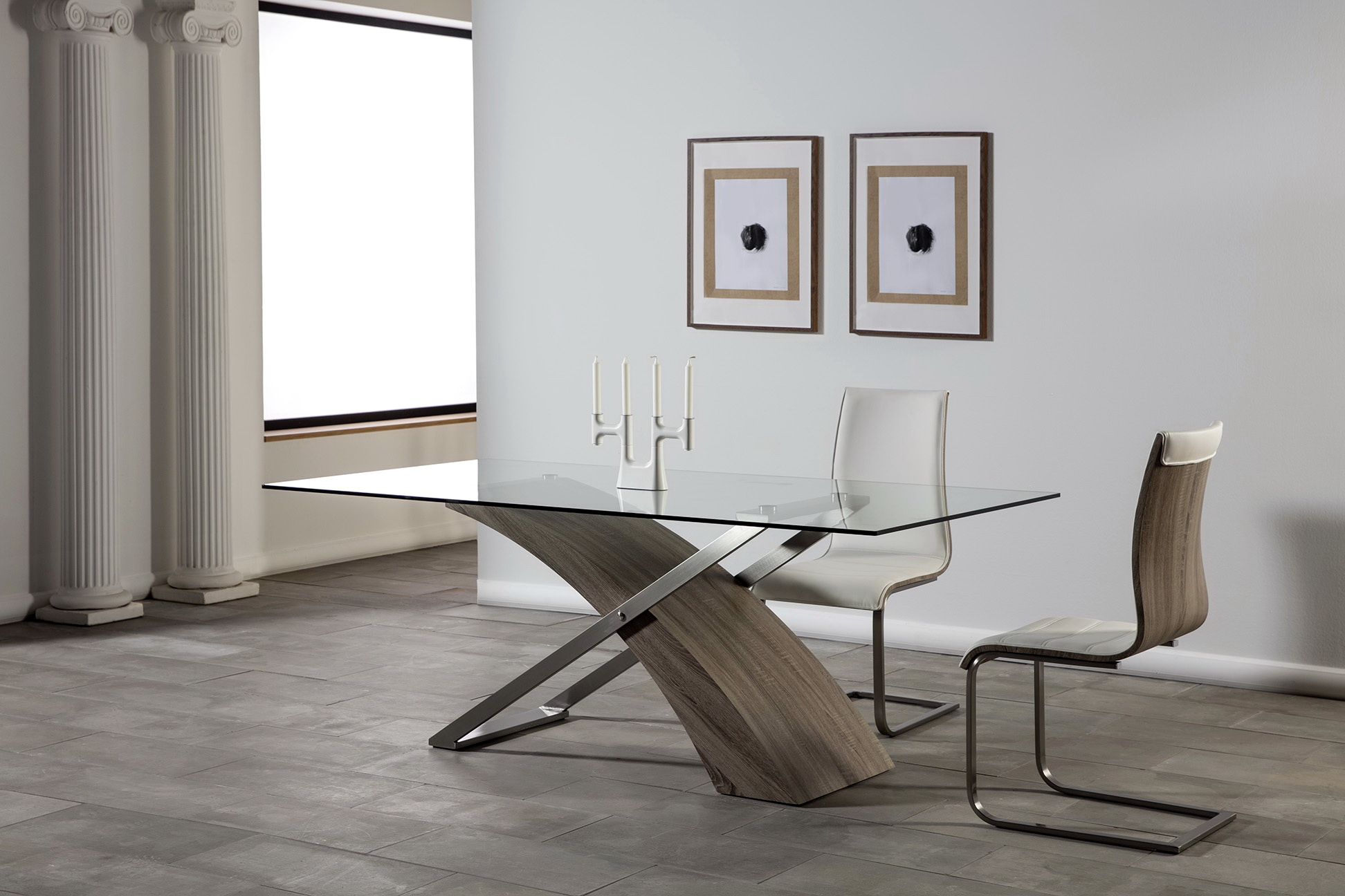 MESA RECT. ARAMIS 200x100cm ROBLE GRIS i-5582-r5.1 by Marckeric en muebles antoñán® León