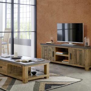 Mesa TV Estilo Industrial 115.1 by Dugar Home GRUPO DUPEN en muebles antoñán® León