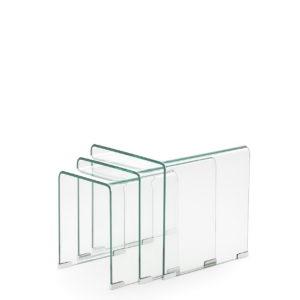 Mesa centro riñonera importación en cristal ND-01 by Dugar Home GRUPO DUPEN en muebles antoñán® León