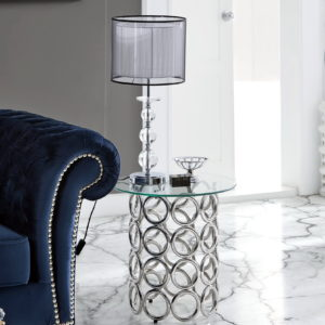 Mesa velador metal y cristal CT-233+TO-9123+CHESTER LUX by Dugar Home GRUPO DUPEN en muebles antoñán® León