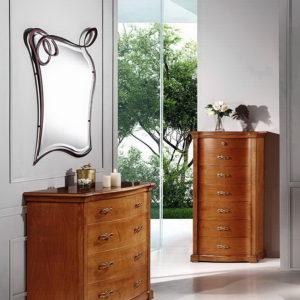 Cómoda para dormitorio en madera y laca 01 Diva en berenjena by Peña Vargas® en muebles antoñán® León