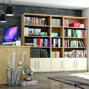 Despacho Low Cost YOKO by Azor Mesa Despacho moderna+Estanterías YOKO 34 en muebles antoñán® León