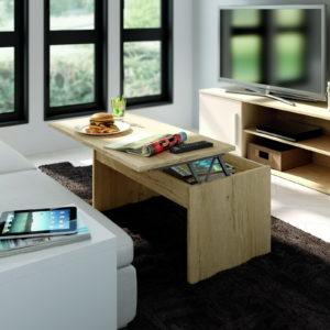Mesa centro moderna Low Cost YOKO 36.2 abierta by Azor en muebles antoñán® León
