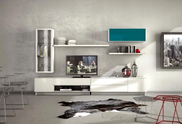 Mueble salón moderno ZACHE_Rubí_composicion 01 HIRES by Zache Diseño Anzadi Mobiliario en muebles antoñán® León