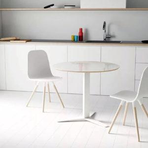 Mesa cocina REDONDA peliccan 01 by Cancio distribuida por muebles antoñán® León